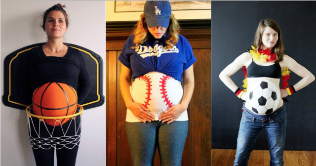 disfraces para embarazadas pelotas