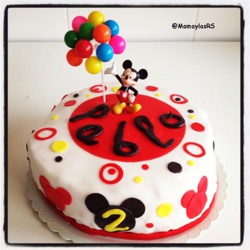 Tarta Fondant de Mickey Mouse