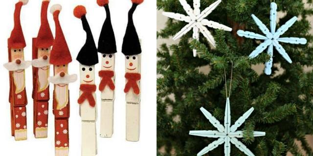 pinzas decorar Navidad