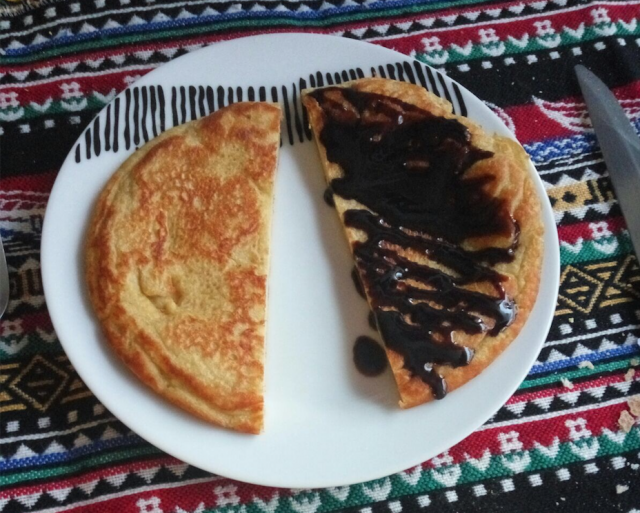 tortita de plátano