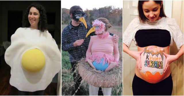 Disfraces para embarazadas huevos